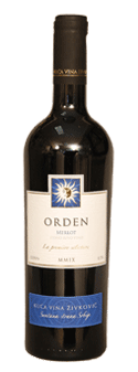 House of wines Zivkovic Orden Merlot